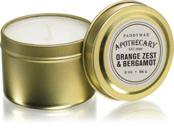 Paddywax Apothecary Orange Zest & Bergamot bougie parfumée en métal