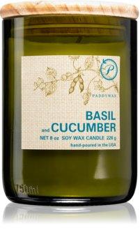 Paddywax Eco Green Basil & Cucumber dišeča sveča