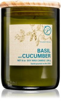 Paddywax Eco Green Basil & Cucumber vonná svíčka