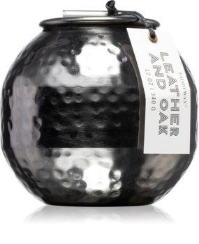 Paddywax Patina Leather & Oak bougie parfumée
