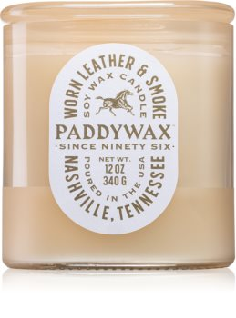 Paddywax Vista Worn Leather & Smoke candela profumata