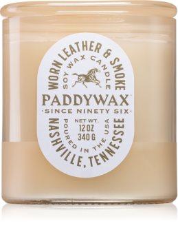 Paddywax Vista Worn Leather & Smoke illatos gyertya