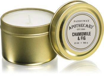 Paddywax Apothecary Chamomile & Fig bougie parfumée en métal
