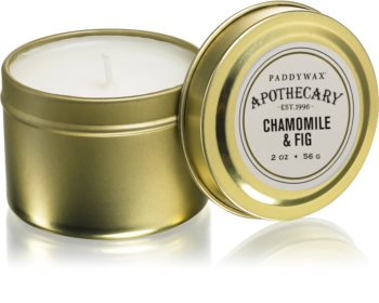 Paddywax Apothecary Chamomile & Fig scented candle in tin