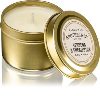Paddywax Apothecary Verbena & Eucalyptus bougie parfumée en métal