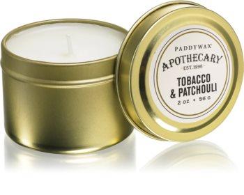 Paddywax Apothecary Tobacco & Patchouli candela profumata in lattina