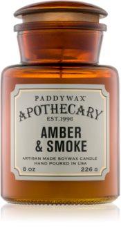 Paddywax Apothecary Amber & Smoke candela profumata