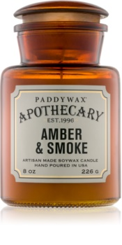 Paddywax Apothecary Amber & Smoke vela perfumada