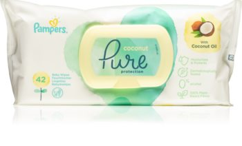Pampers Pure Protection Coconut finom nedves törlőkendők gyermekeknek az érzékeny bőrre