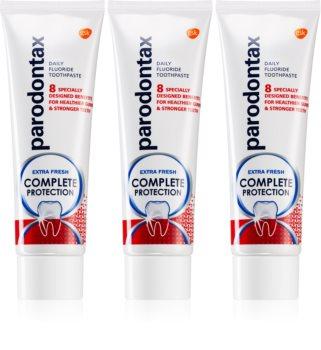 Parodontax Complete Protection Extra Fresh dentifrice au fluorure pour des dents et gencives saines