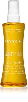 Payot Sun Sensi olejek do opalania do ciała i włosów SPF 50+