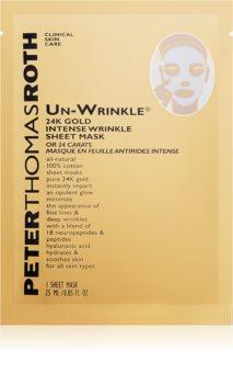 Peter Thomas Roth Un-Wrinkle 24K Gold máscara em folha antirrugas