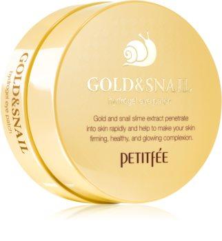 Petitfée Gold & Snail хидрогелова маска за зоната около очите с екстракт от охлюв