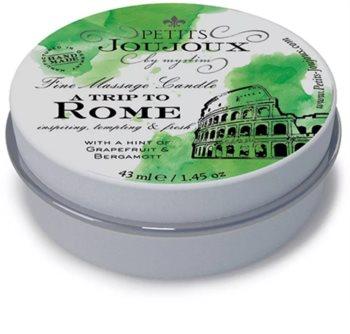 Petits JouJoux A Trip to Rome świeca do masażu