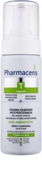 Pharmaceris T-Zone Oily Skin Puri-Sebostatic espuma limpiadora para pieles resecas e irritadas debido a un tratamiento de acné