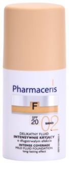 Pharmaceris F-Fluid Foundation maquilhagem de cobertura intensa com efeito de longa duração SPF 20