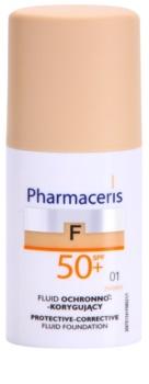 Pharmaceris F-Fluid Foundation fond de teint protecteur couvrance SPF 50+