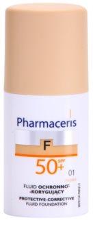 Pharmaceris F-Fluid Foundation védő és fedő make-up SPF 50+