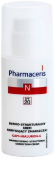 Pharmaceris N-Neocapillaries Capi-Hyaluron-C Anti-Wrinkle Cream Restoring Skin Density for Sensitive, Redness-Prone Skin