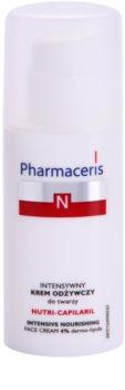 Pharmaceris N-Neocapillaries Nutri-Capilaril crema nutriente lenitiva per pelli sensibili con tendenza agli arrossamenti con burro di karité