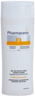 Pharmaceris P-Psoriasis Puri-Ichtilium gel de limpeza para corpo e couro cabeludo com psoríase