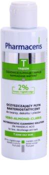 Pharmaceris T-Zone Oily Skin Sebo-Almond-Claris água de limpeza para a pele oleosa e problemática para rosto e decote
