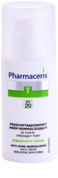 Pharmaceris T-Zone Oily Skin Sebostatic Day κρέμα ημέρας για συρρίκνωση των πόρων για προβληματική επιδερμίδα, ακμή