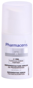 Pharmaceris W-Whitening Acipeel 3x sérum corretor clareador antimanchas com vitamina C