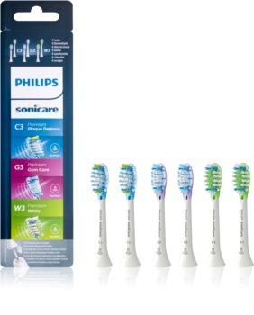 Philips Sonicare Premium Combination Standard HX9076/07 końcówki wymienne do szczoteczki do zębów 6 szt.