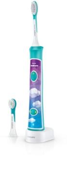Philips Sonicare For Kids 3+ HX6322/04 szónikus elektromos gyermek fogkefék Bluetooth összeköttetéssel