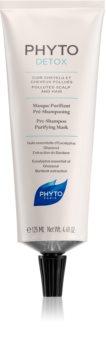 Phyto Detox почистваща маска за преди измиване за коса, изложена на замърсен въздух