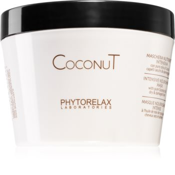 Phytorelax Laboratories Coconut feuchtigkeitsspendende Maske für die Haare mit Kokosöl