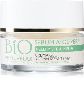 Phytorelax Laboratories Bio Sebum Aloe Vera crema-gel idratante per rendere la pelle meno grassa