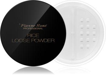 Pierre René Rice Loose Powder poudre transparente matifiante
