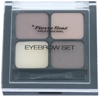 Pierre René Eyes Eyebrow paleta para maquilhagem de sobrancelhas
