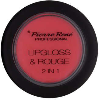 Pierre René Lipgloss gloss e blusher 2em1