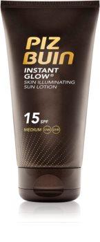 Piz Buin Instant Glow verhelderende zonnebrandcrème SPF 15