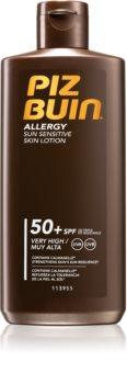 Piz Buin Allergy Bräunungsmilch für empfindliche Haut SPF 50
