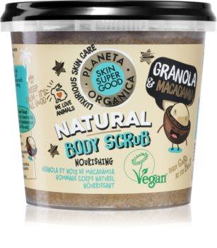 Planeta Organica Granola & Macadamia vyživující tělový peeling