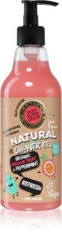 Planeta Organica Organic Passionfruit & Peppermint osvježavajući gel za tuširanje