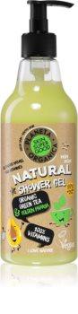 Planeta Organica Organic Green Tea & Golden Papaya gel de duș cu vitamine