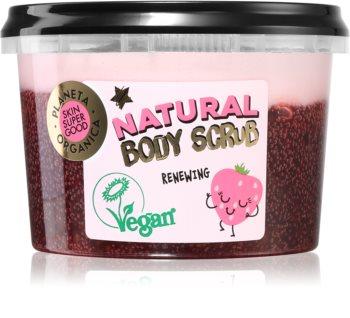 Planeta Organica Organic Strawberry & Chia Seeds pečující tělový peeling