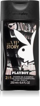 Playboy My VIP Story gel de douche et shampoing 2 en 1 pour homme