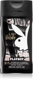 Playboy My VIP Story tusfürdő gél és sampon 2 in 1 uraknak
