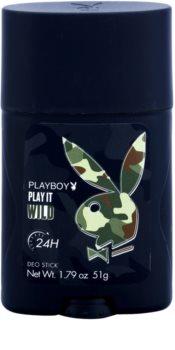 Playboy Play it Wild desodorante en barra para hombre 51 g