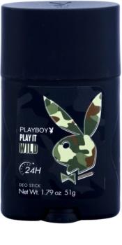 Playboy Play it Wild desodorizante em stick para homens 51 g