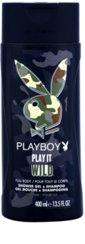 Playboy Play it Wild gel de duche para homens