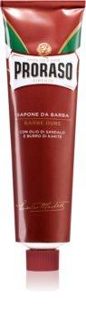 Proraso Red Shaving Soap for Coarse Facial Hair In Tube