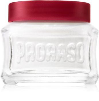 Proraso Red crema pre-shave per barbe dure