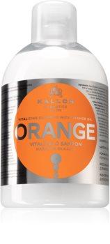 Kallos Orange revitaliserende shampoo om futloos haar te doen stralen